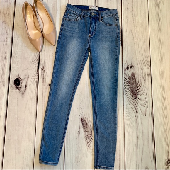 Free People Denim - Free people high rise skinny jeans